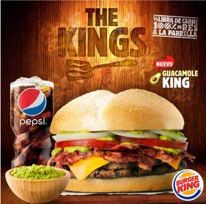The Kings y Guacamole King. Lo más Nuevo de Burger King